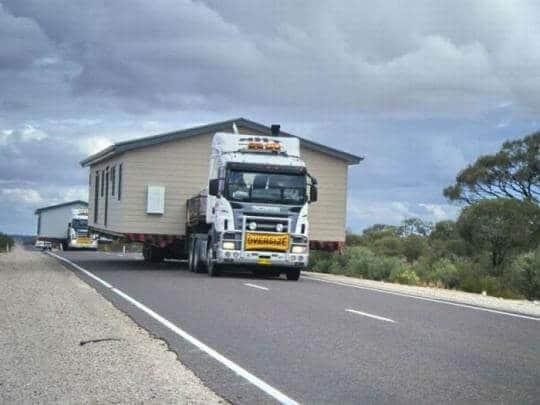 como transportar una casa prefabricada